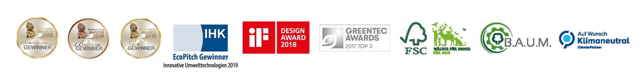 Nachhaltigkeits Awards und Auszeichnungen