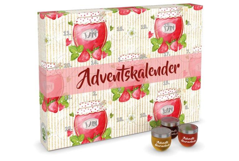 Adventskalender mit Marmelade